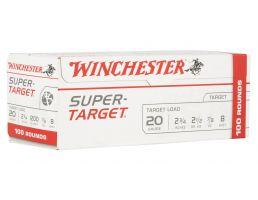 """Winchester Super Target 2.75"""" 7/8 oz 8 Shot 20 Gauge Ammunition 100 Rounds For Sale"""