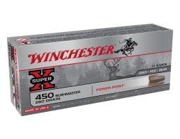 Winchester Super X 260 gr PP .450 Bushmaster Ammunition 20 Rounds