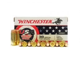 Winchester USA 38 Special 130gr FMJ Ammunition 50rds