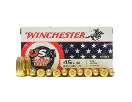 Winchester USA 45 Auto/ACP 230gr FMJ Ammunition 50rds
