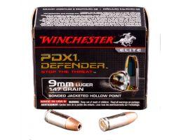 Winchester 9mm 147gr PDX1 Ammunition 20rds - S9MMPDB1