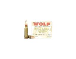 Wolf 124 Grain FMJ Steel Case 7.62x39 Ammo