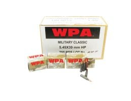 Wolf Performance Military Classic 55 gr Hollow Point Boat Tail 5.45x39mm Ammo, 750/case - MC545BHP