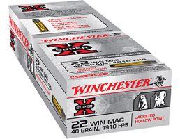 Winchester SUP-X 22 WMR Ammo 40 Gr JHP 50rds - X22MH