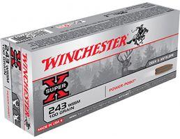Winchester 243 WSSM 64gr Power Point Ammunition 20rds - X243WSS