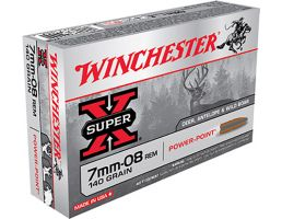 Winchester 7mm-08 140gr Power-Point Super-X Ammunition 20rds - X708