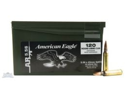 American Eagle 5.56 55gr Ammunition 120rds Mini-Can - - XM193LPC120