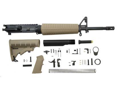 PSA 16 Mid-Length 5.56 NATO 1/7 Phosphate Classic Rifle Kit, FDE