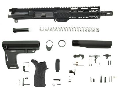 "PSA 7.5"" Pistol-length 300AAC 1/8 Phosphate 7"" Lightweight M-Lok MFT Battlelink Pistol Kit"