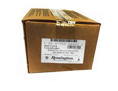 Remington 55 gr FMJ .223 Rem Ammunition, 1000 Rounds