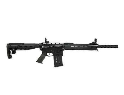 Panzer Arms AR-12 PRO Semi Auto 12 Gauge Shotgun, Black