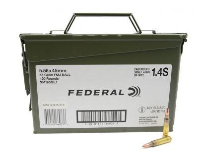 Federal 5.56 55gr FMJ-BT 400rd Ammo Can