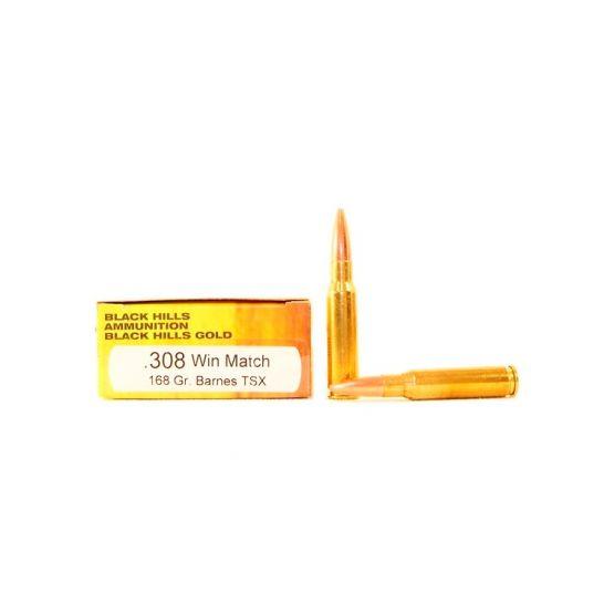 Black Hills Gold 308 Winchester 168gr Barnes TSX ...