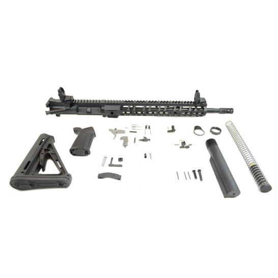 "PSA 16"" 5.56 NATO 1:7 Midlength Nitride 13.5"" Lightweight M-Lok MOE EPT Rifle Kit w/ MBUS Sight Set"