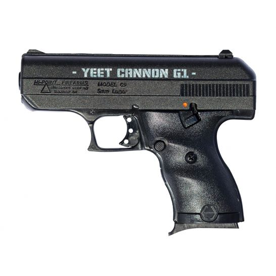 Hi Point C9 Yeet Cannon G1 9mm Handgun Powder Coated Black 916g1yc Palmetto State Armory Yeet cannon, is a common term for describing a large bore firearm with little in the way of a practical function or common use (i.e. hi point c9 yeet cannon g1 9mm handgun powder coated black 916g1yc