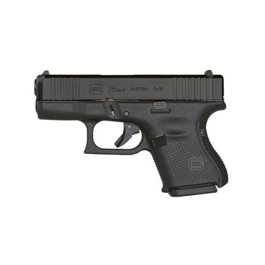 Glock G26 Gen5 9mm Pistol, Black