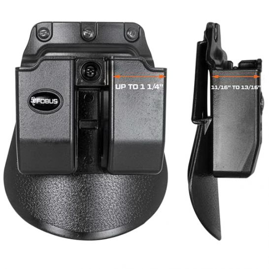 Fobus 6909NDP Evolution Mag Pouch for 9mm /& .40 Double-Stack Double Magazine Pou