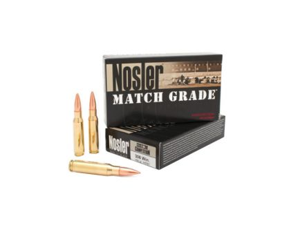 Nosler 308 Winchester 168gr Custom Competition HPBT Ammunition, 20 Round Box – 60054