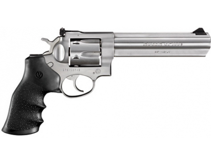 """Ruger GP-100 .357 Mag 6"""" Bbl Stainless Steel Hogue Grip 01707"""