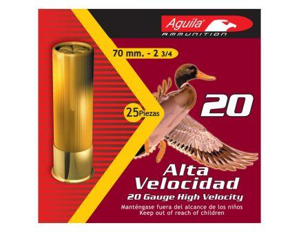 "Aguila Field 20 Gauge 2.75"" 4 Shot 1 oz High Velocity Lead Shotshell, 25/Box - 1CHB2004"
