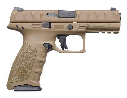 Beretta APX FDE 9mm Pistol 15 Round Semi Auto Striker Fire, Flat Dark Earth - JAXF91505