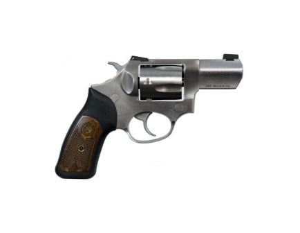 Ruger SP101 Wylie Clapp Edition .357 Mag Revolver, Stainless W/ Black Rubber & Engraved Wood Grips - Display Model