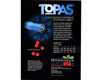 "Brenneke USA TOPAS 12 Gauge 2.75"" Shotgun Sabot Slug, 5/box - SL-122TOP"