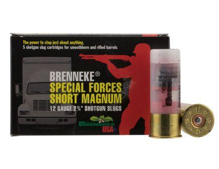 "Brenneke USA Special Forces Short Magnum 12 Gauge 2.75"" Shotgun Slug, 5/box - SL-122SFM"