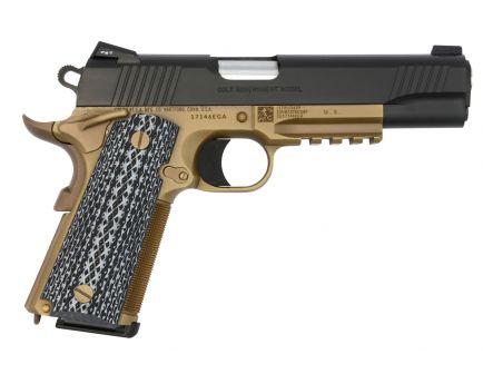 Colt 1911 Government Custom 45 ACP 7+1 Pistol, Desert Tan Cerakote Black - O1070CQBFB