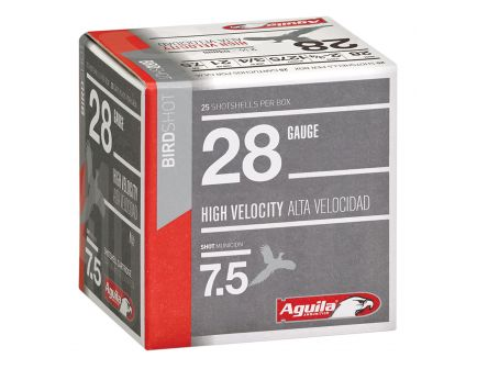 Aguila Sub-Gauge 28 Gauge 2-3/4 inches 7-1/2 Shot 3/4 oz Lead Shotshell, Birdshot, 25/Box - 1CHB2873