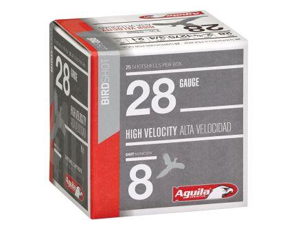 Aguila Sub-Gauge 28 Gauge 2-3/4 inches 8 Shot 3/4 oz Lead Shotshell, Birdshot, 25/Box - 1CHB2878
