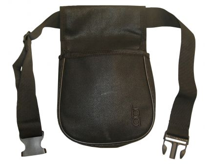 Boyt Bob Allen Classic Divided Shell Pouch w/ Belt, 2-Compartment, Black - 23284