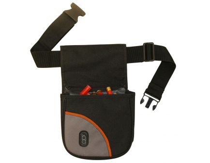 Boyt Club Divided Shell Pouch w/ Belt, 2-Compartment, Black - BA430