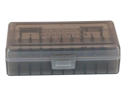 Berrys Bullets 401 .380/9mm 50 Round Snap-Hinge Ammo Box, Smoke - 40101