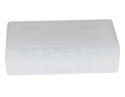 Berrys Bullets 401 .380/9mm 50 Round Snap-Hinge Ammo Box, Clear - 40103