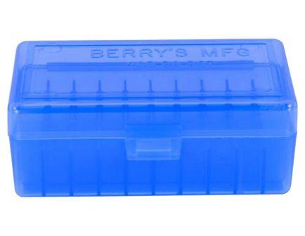 Berrys Bullets 403 .38/.357 50 Round Snap-Hinge Ammo Box, Blue - 40302