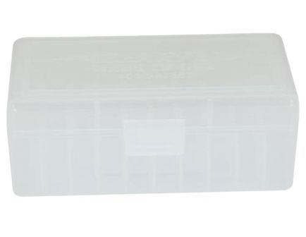 Berrys Bullets 403 .38/.357 50 Round Snap-Hinge Ammo Box, Clear - 40303