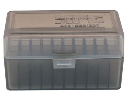Berrys Bullets 405 .223 Rem/5.56 50 Round Snap-Hinge Ammo Box, Smoke - 40501