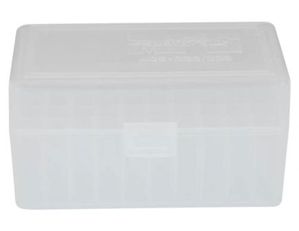 Berrys Bullets 405 .223 Rem/5.56 50 Round Snap-Hinge Ammo Box, Clear - 40503