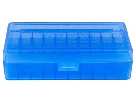Berrys Bullets 408 .40/.45/10mm 50 Round Snap-Hinge Ammo Box, Blue - 40802