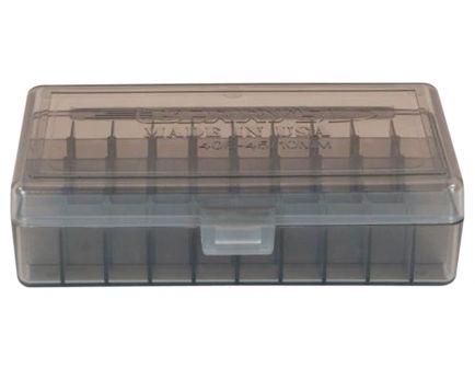 Berrys Bullets 408 .40/.45/10mm 50 Round Snap-Hinge Ammo Box, Smoke - 40801