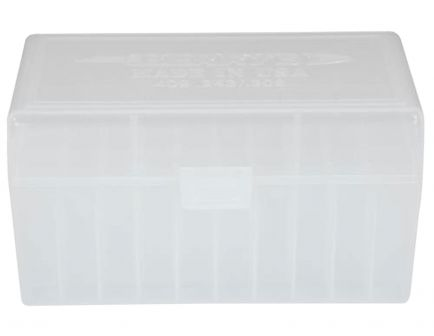 Berrys Bullets 409 .243/.308 50 Round Snap-Hinge Ammo Box, Clear - 40903