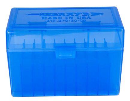 Berrys Bullets 410 .270/.30-06 50 Round Snap-Hinge Ammo Box, Blue - 41002