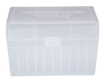 Berrys Bullets 410 .270/.30-06 50 Round Snap-Hinge Ammo Box, Clear - 41001