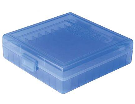 Berrys Bullets 001 .380/9mm 100 Round Snap-Hinge Ammo Box, Blue - 01020