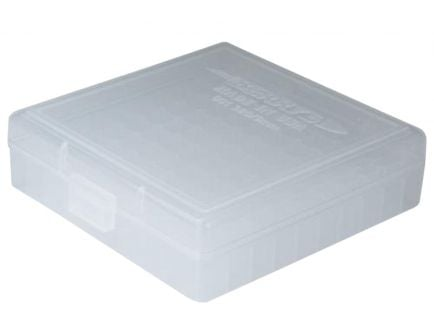 Berrys Bullets 001 .380/9mm 100 Round Snap-Hinge Ammo Box, Clear - 01030