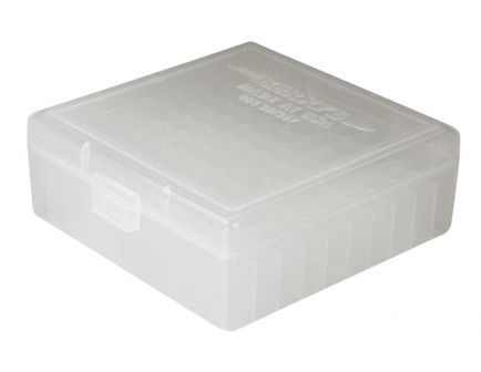 Berrys Bullets 003 .38/.357 100 Round Snap-Hinge Ammo Box, Clear - 03030