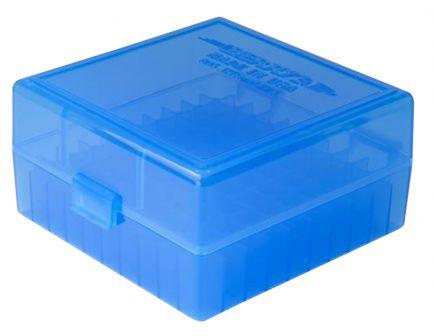 Berrys Bullets 005 .223 Rem/5.56 100 Round Snap-Hinge Ammo Box, Blue - 05020