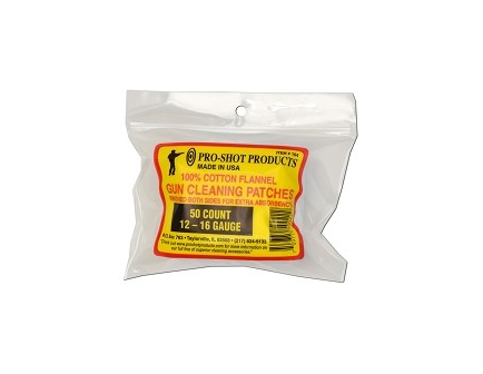 Pro-Shot 12-16 Ga. 50CT. Cleaning Patches