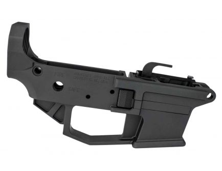 Angstadt Arms 9mm Luger Lower Receiver, Hard Coat Anodized Matte Black - AA0940LRBA